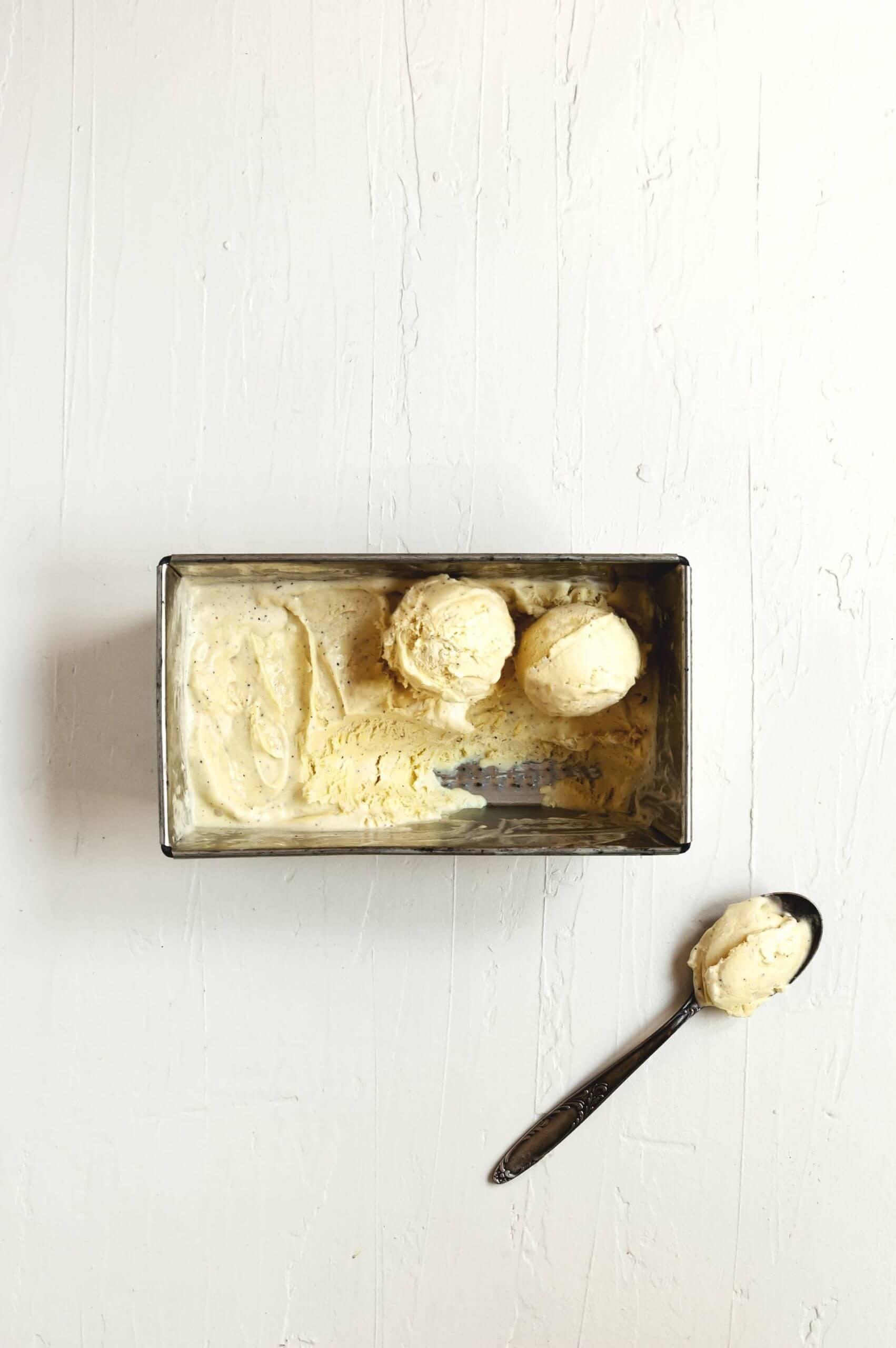 como hacer helado de vainilla sin heladera