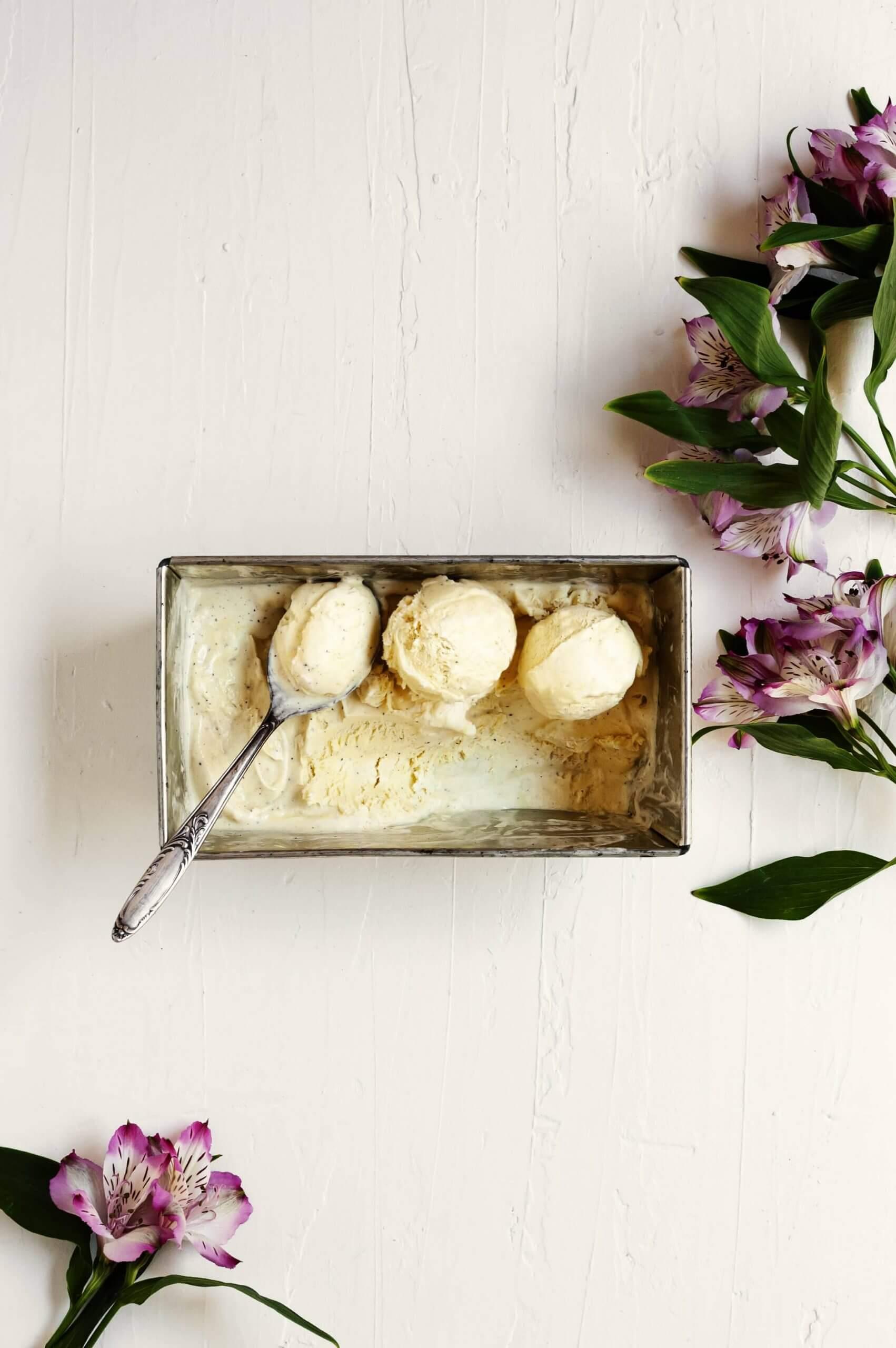 como hacer helado de vainilla