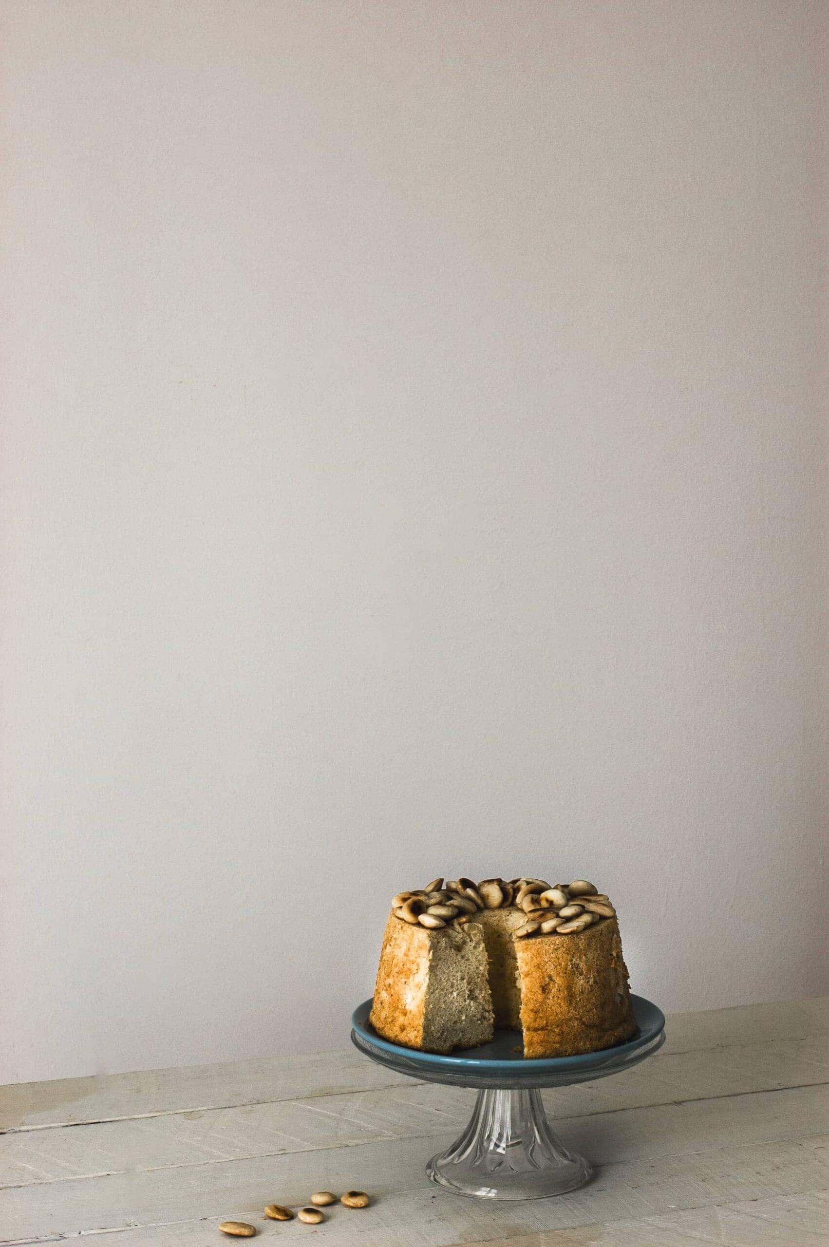 angel food cake con almendras