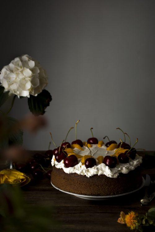 Bizcocho de chocolate y nueces sin gluten