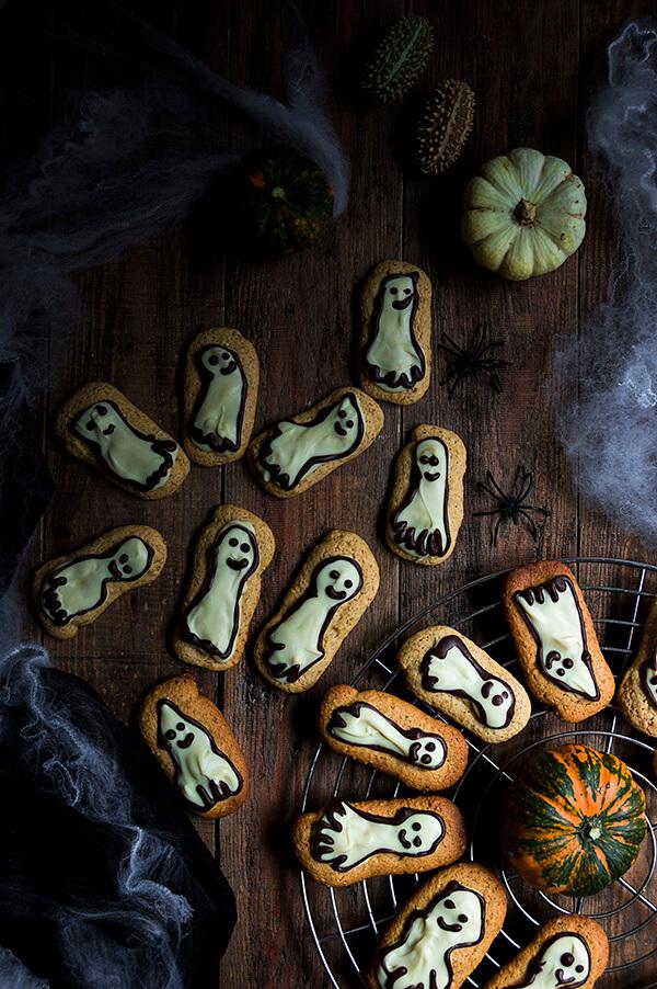 como hacer galleta de calabaza para halloween