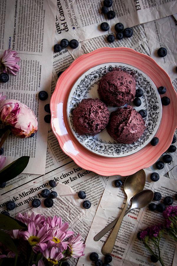 helado de arandanos