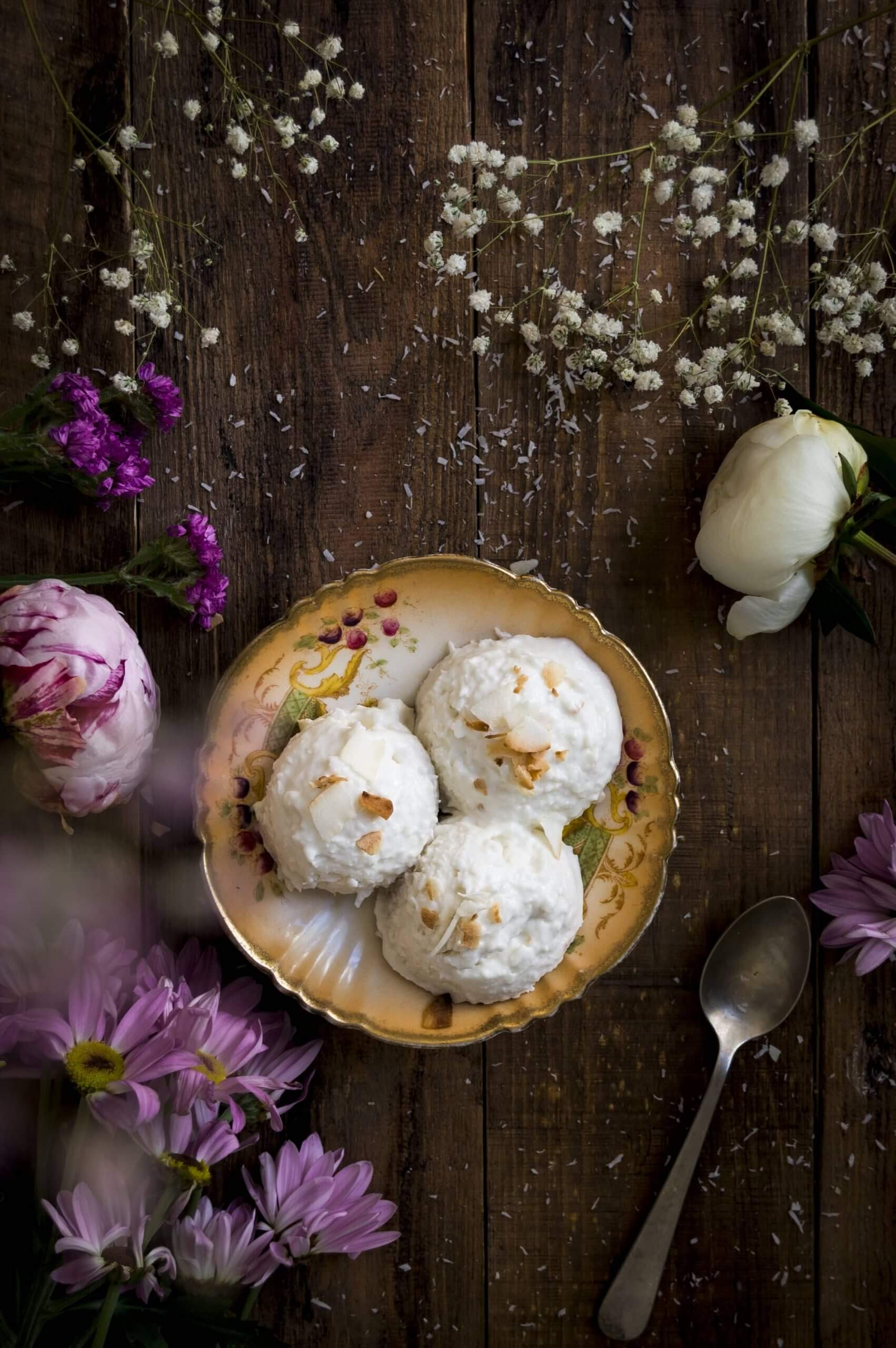 como hacer helado de coco