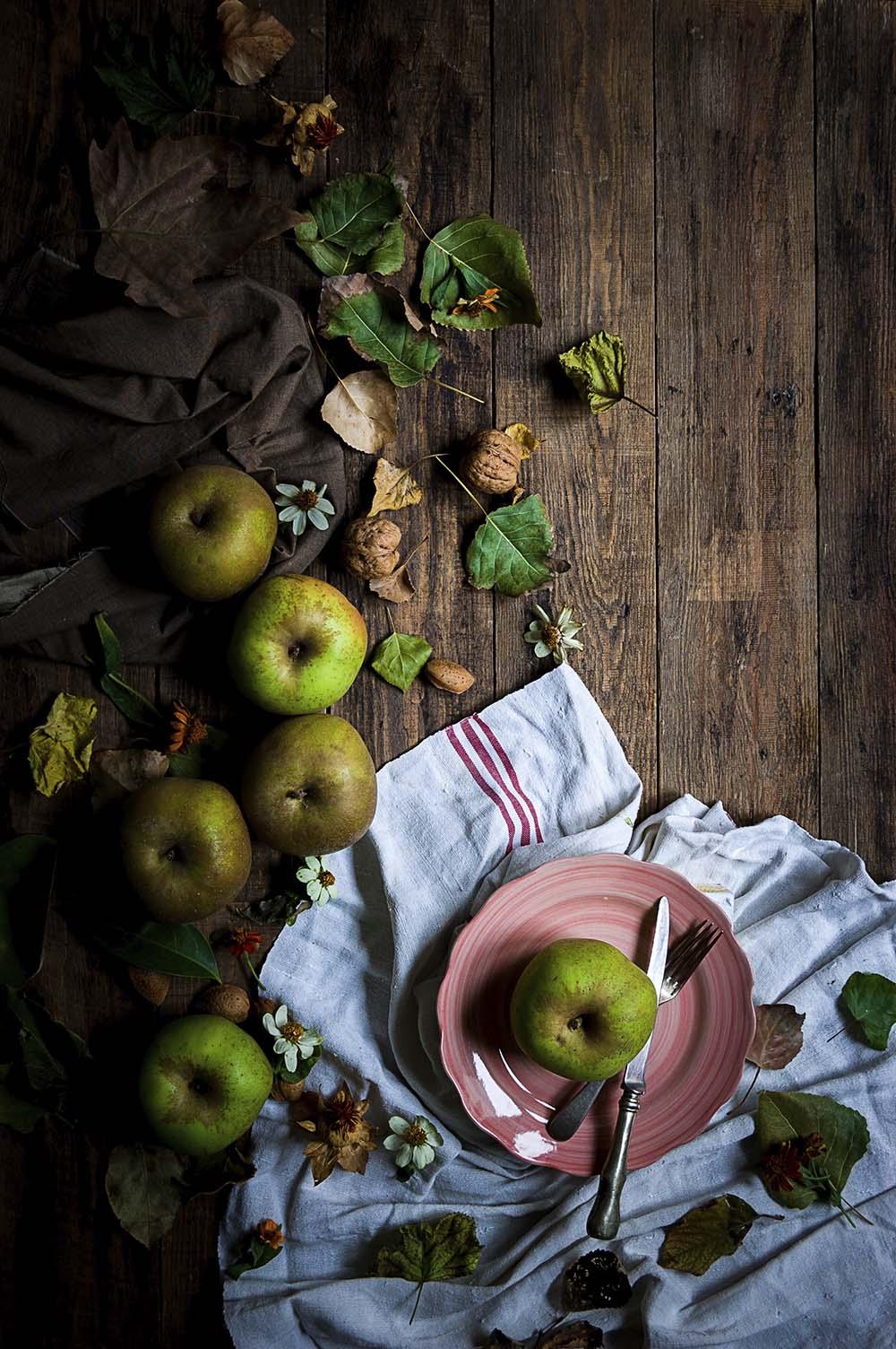 fotografia de manzana reineta