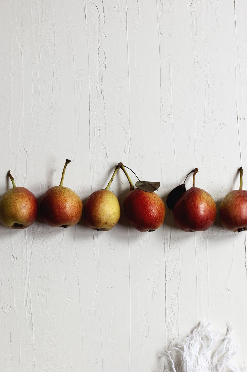 fotografia de peras de magallon