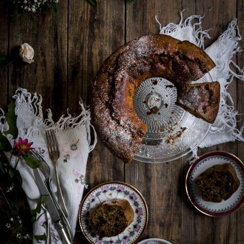 plum cake de pasas