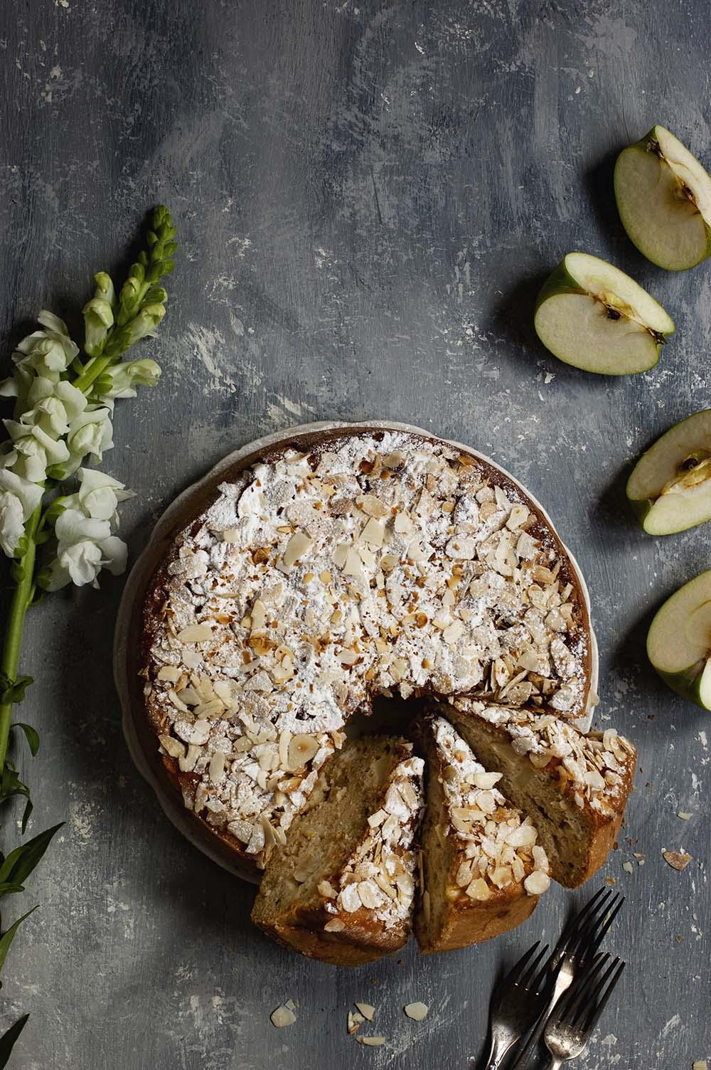 fotografia de tarta de manzana rustica