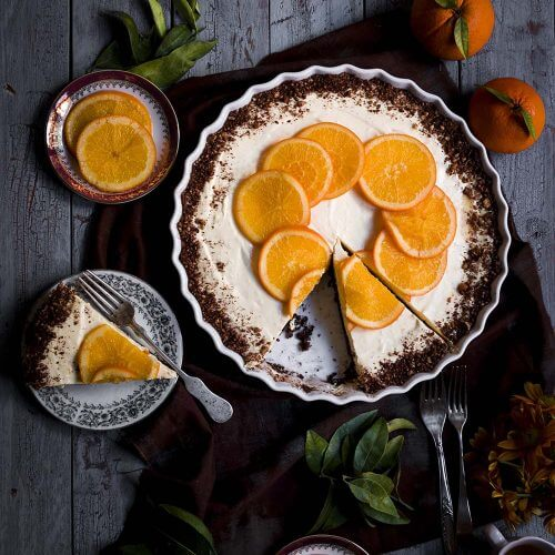 cheesecake de naranjas