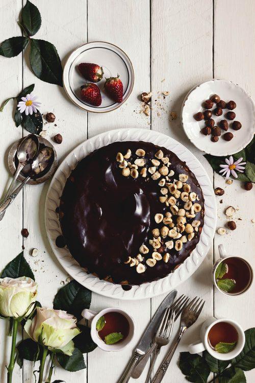 Cheesecake de ricotta y avellanas