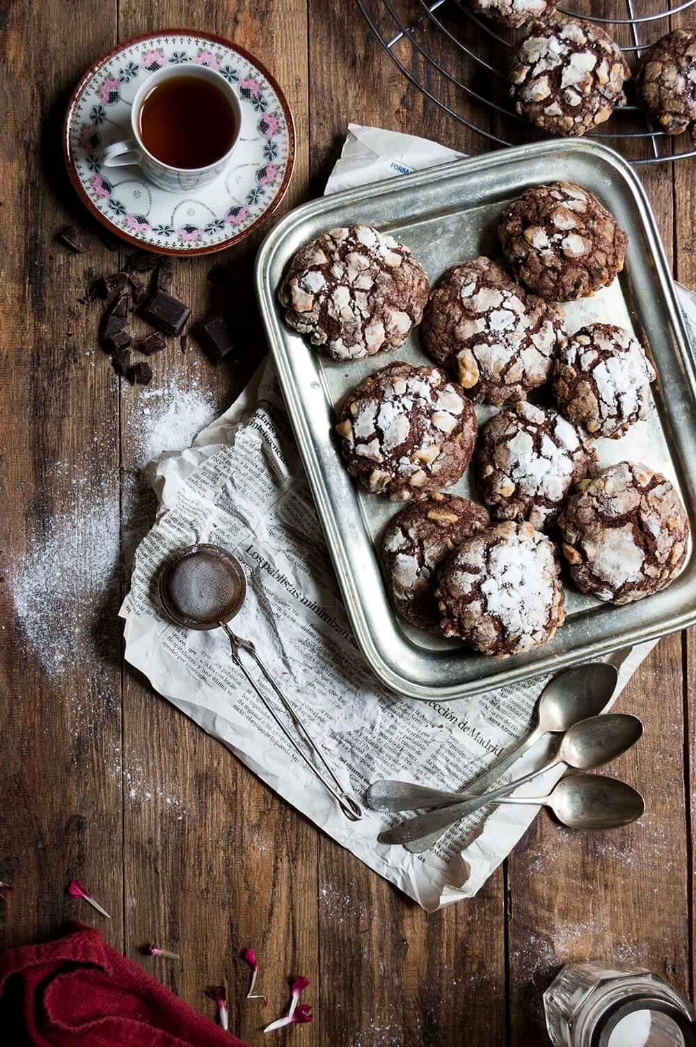 como hacer galletas de chocolate con platano y nueces