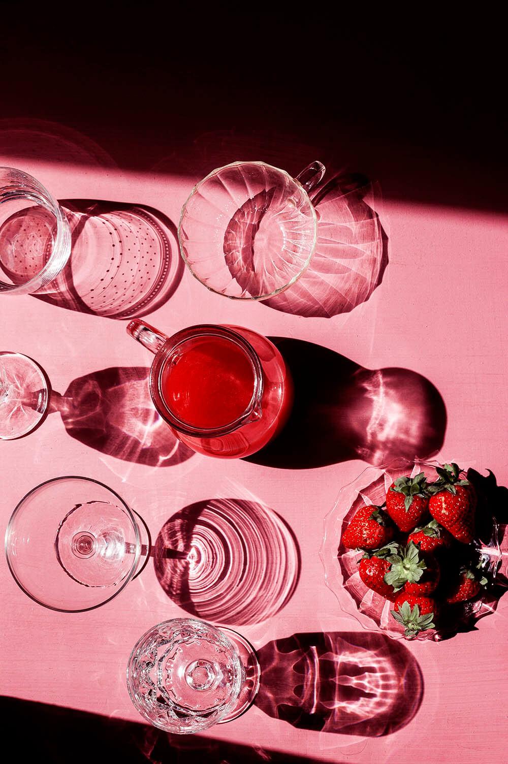 como hacer limonada de fresas