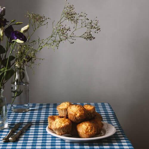 magdalenas de manzana y coco