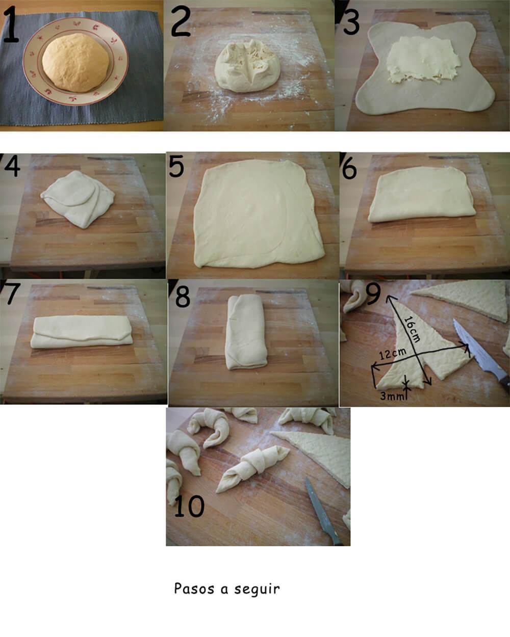 como hacer masa de croissant