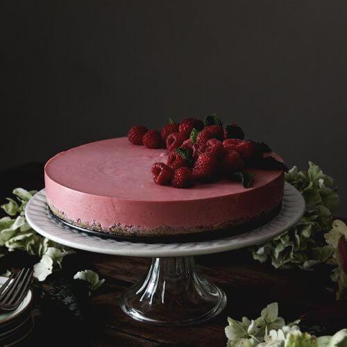 tarta de frambuesa con yogur