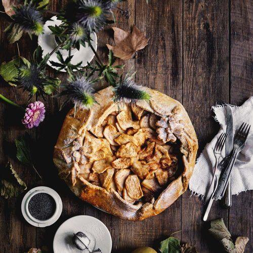 galette de manzana y amapola