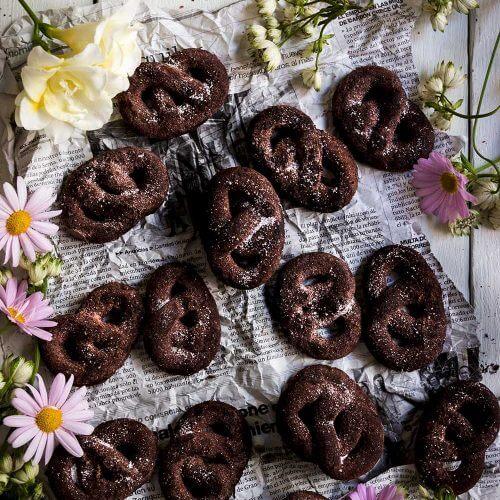receta de pretzel de chocolate