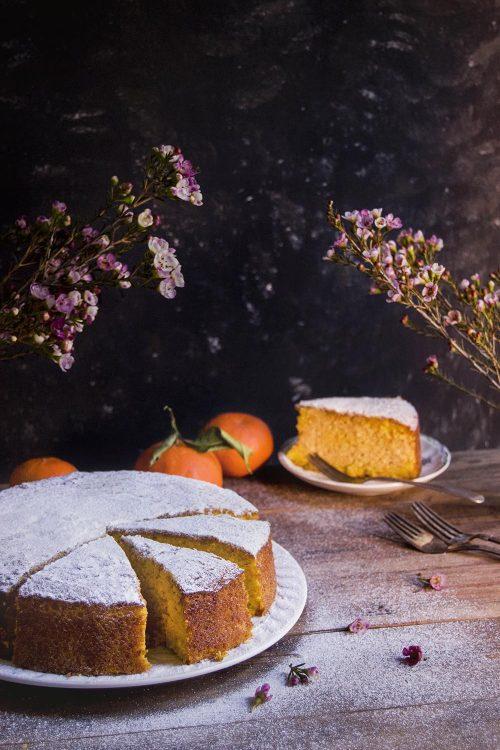 Tarta de mandarina polenta almendra