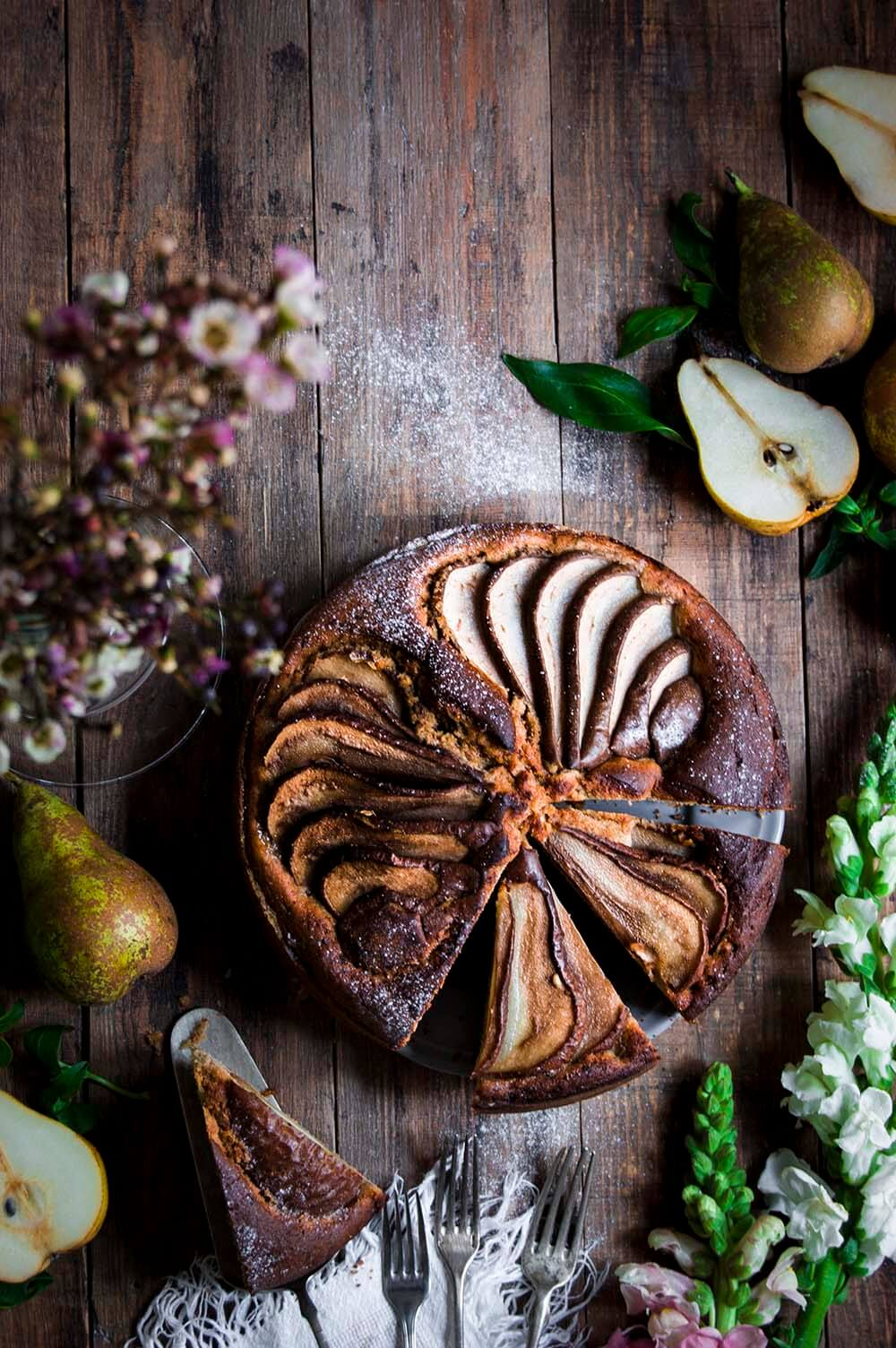 tarta de peras con especias