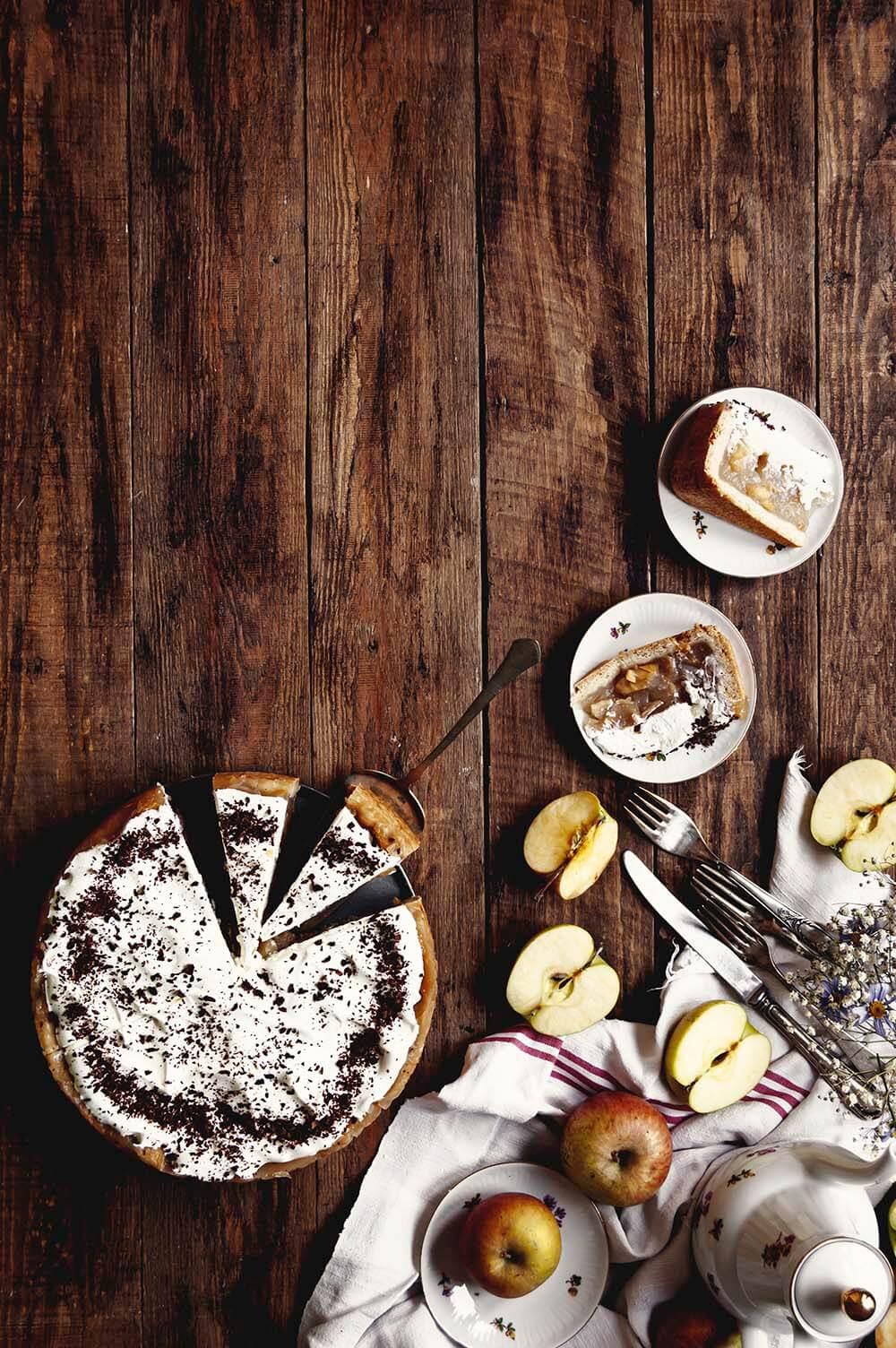tarta de sidra con manzana