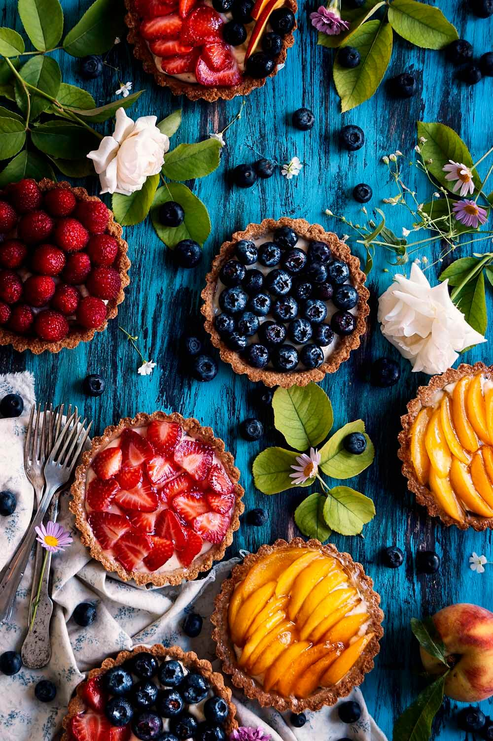 tartaleta de frutas de verano