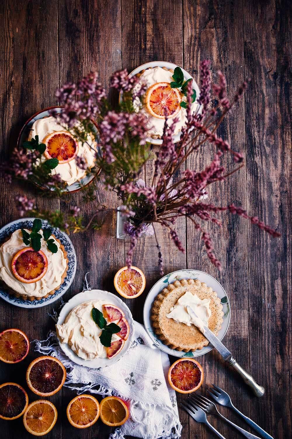 como hacer tartaletas de limon con semillas de amapola y orange curd