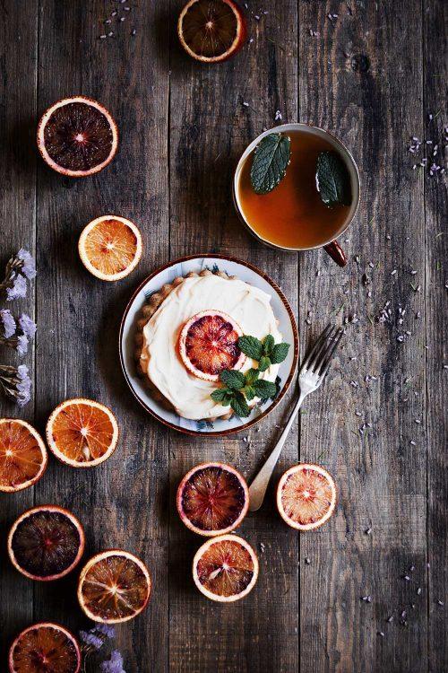 Tartaletas de limón con semillas de amapola y Orange curd