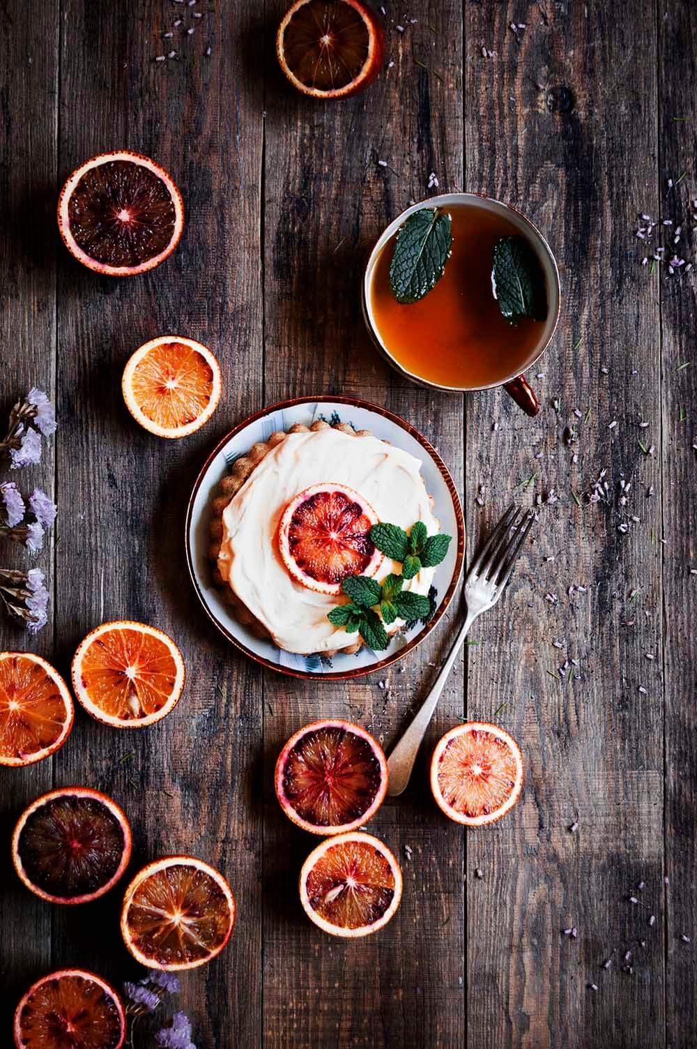 tartaletas de limon con semillas de amapola y orange curd