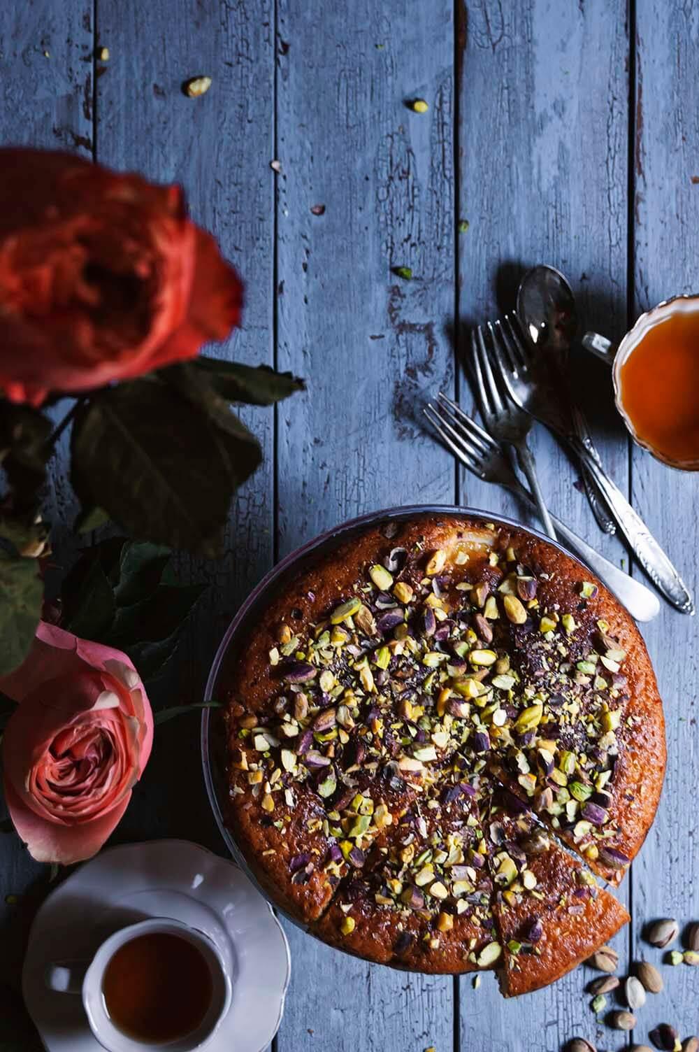 receta de bizcocho de pistachos y limon
