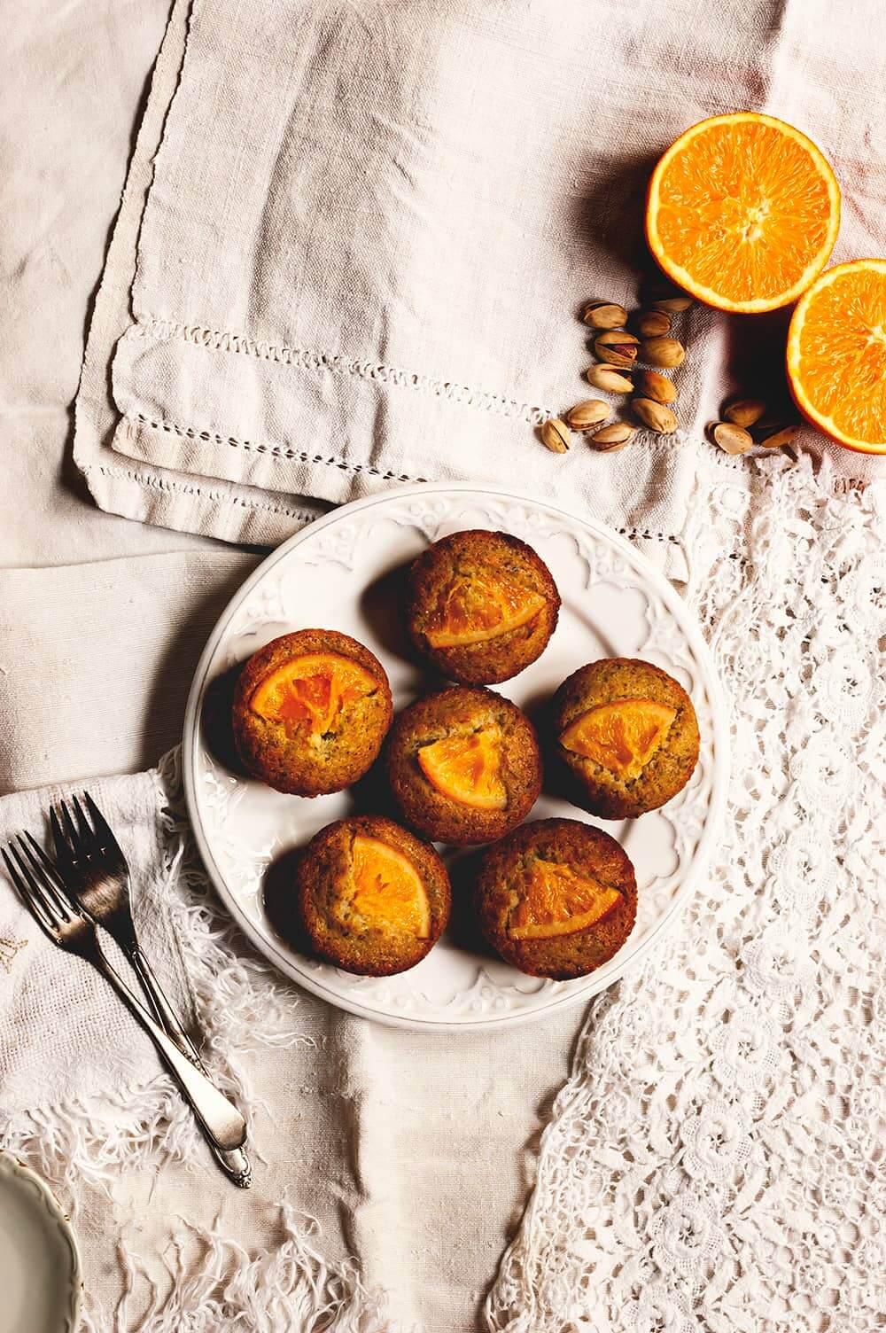 Como hacer Friands de pistacho y naranja