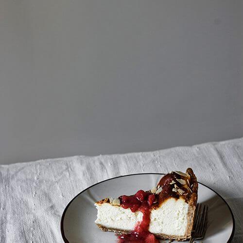 como hacer cheesecake con amaretto y fresas