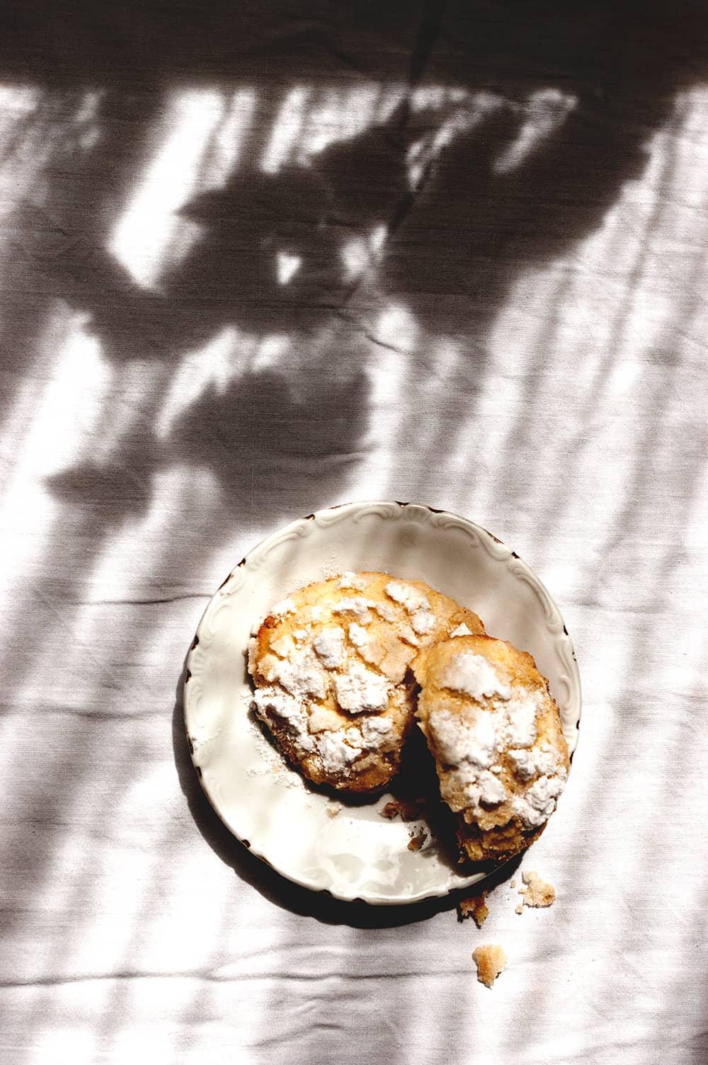 Como hacer galleta craquelada de limón