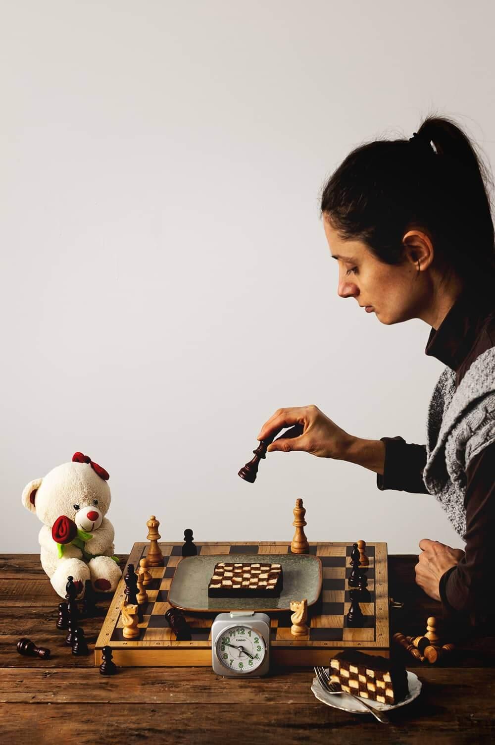 Como hacer Bizcocho de ajedrez