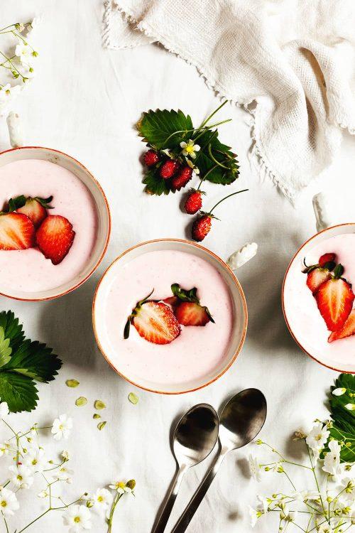 Espuma de fresas