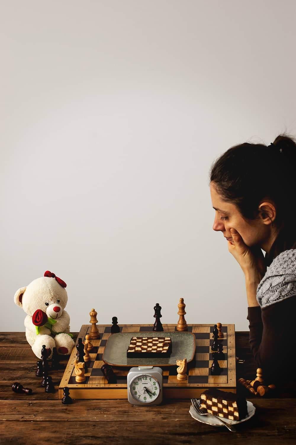 Receta de Bizcocho de ajedrez